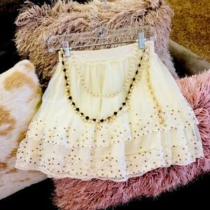 Sequin and Tulle Mini Skirt